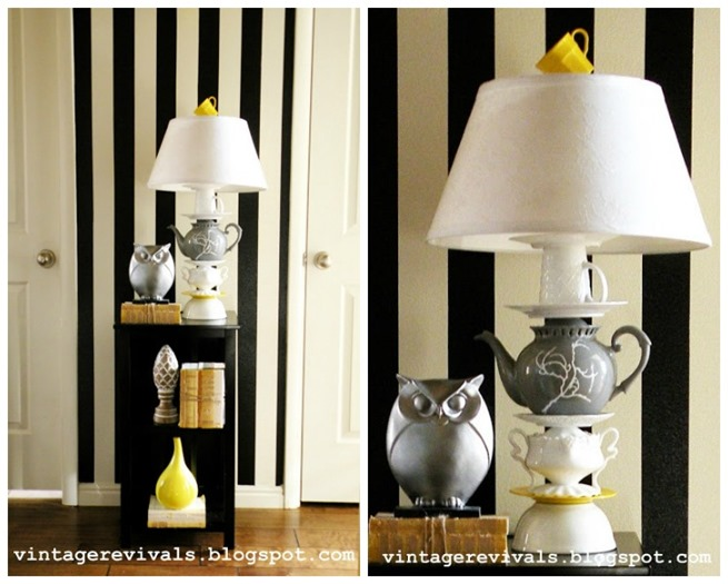 Teacup lamp