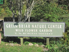 Cape Cod Columbus weekend 2012..Sat. Green Brier Nature Center sign near house