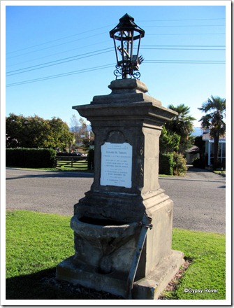 This double sided memorial is to a soldier in the Boer War and the Accession of King Edward VII