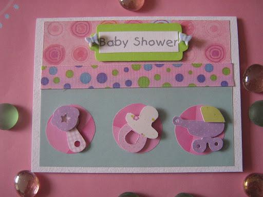 Tarjeta baby shower niña