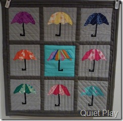 Umbrella mini quilt