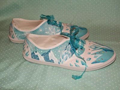 Elsa Frozen Sneakers from Garden of Imagination