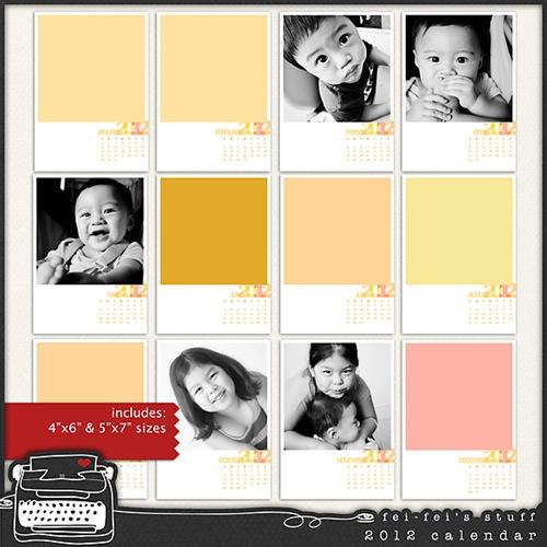 fei-fei's stuff calendar