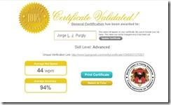 Certifica de Digitação Oficial Avançado JLJP