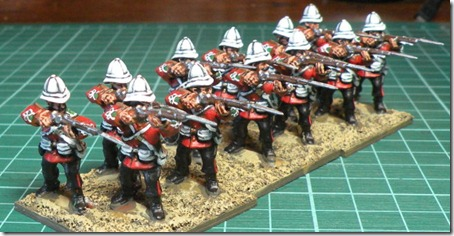 Wargames Factory British infantry Zulu war