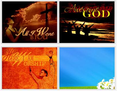 Imagens de fundo (backgrounds cristãos) do christiancollages.com