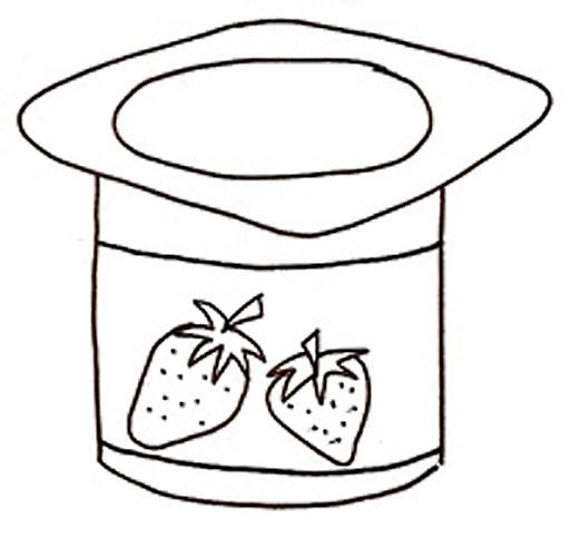 Yogurt Coloring Pages