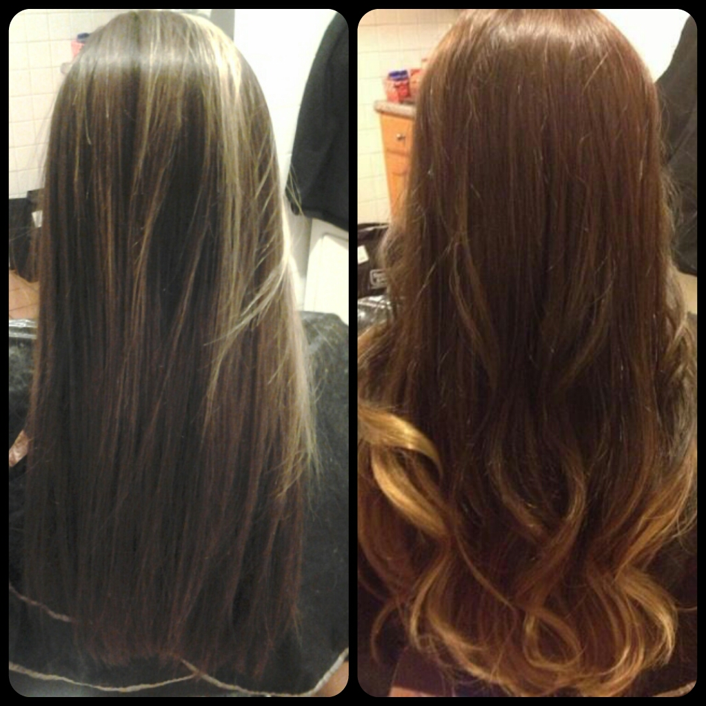 Healthy Hair Is Beautiful Hair Before And After Medium Brown