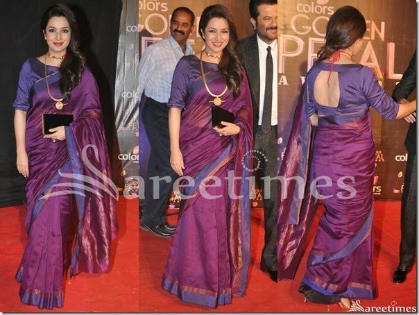 Tisca_Chopra_Purple_Saree