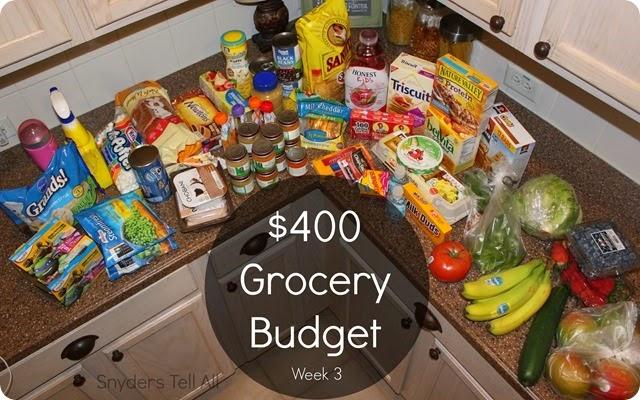 Week 3 grocery budget
