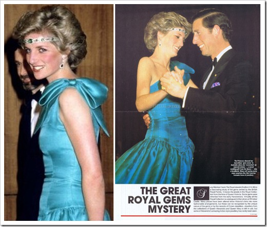 lady Diana wore it in a stylish manner and the choker became her headband