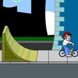 Manobras de bicicleta na rua