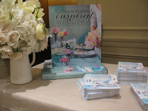 "Our contributing floral expert Matthew Robbins signed copies of his new book ""Inspired Weddings"" and showcased some of his amazing arrangements."