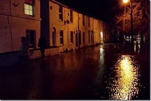 Flooding at Front Brents