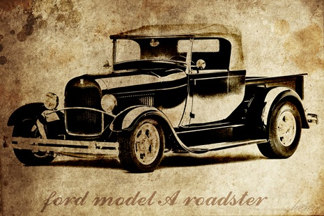 aged hot rod photo effect