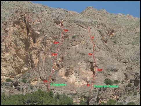 Croquis Redovan - La Pancha - X Capitulos 160m 6a  y Todos los Santos 150m 6a  (Vison)