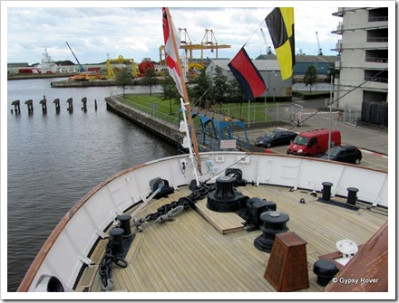 HMY Britannia. Stern deck.