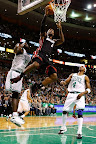lebron james nba 130127 mia at bos 15 Boston Outlasts Miami in 2nd OT. LeBron Debuts Suede X PE!