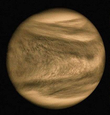 imagem de Vênus no ultravioleta