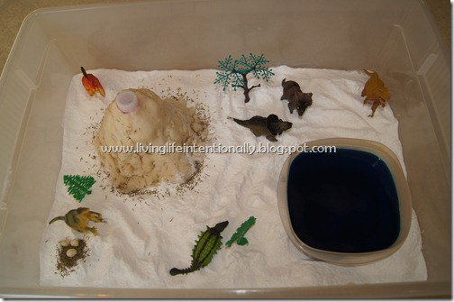 Dinosaur Sensory Bin