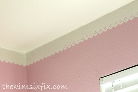 Painting faux crown molding