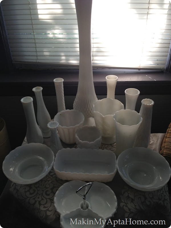 June white milk glass thrift mmah