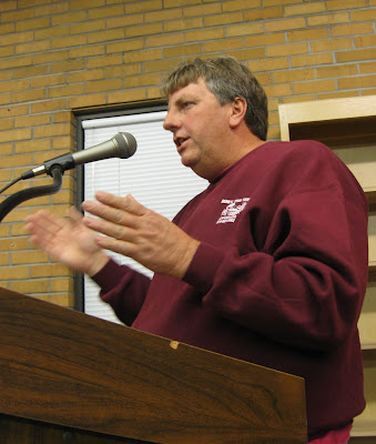 Bob Luke of Luke's Sanitation addresses the city council