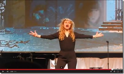 Mallory Everton lip synching Michael Jackson at RootsTech