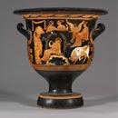 Vaso acampanado de figuras rojas, Pintor de Iliupersis, Apulia, 360 a.C. aprox. (3)