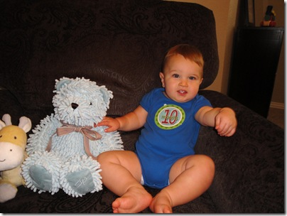 3.  Knox with Bear 10 months