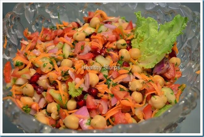 Luscious colourful salad