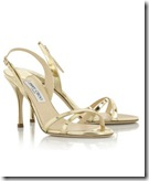 Jimmy Choo Mirrored Leather Sandals