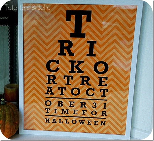 halloween eye chart printable chevron