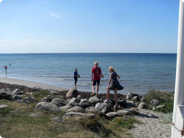 Strand og havn på Enø