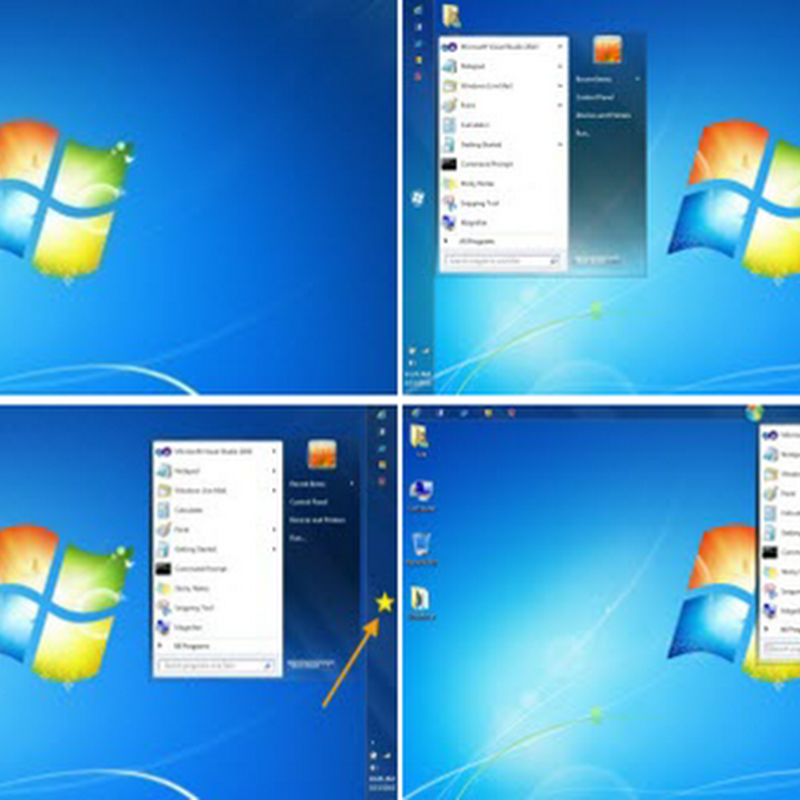 Move Windows 7 Start Button to Different Locations on the Taskbar
