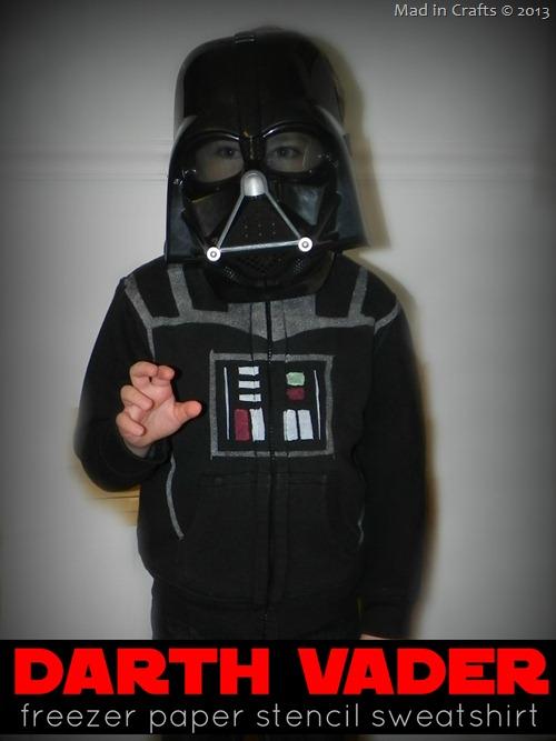 Darth Vader Freezer Paper Stencil Sweatshirt