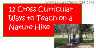 A guest blog post from Heidi Raki at her blog www.rakisradresources.com and she is talking about 12 Cross-Curricular Ways to Teach on a Nature Hike today.