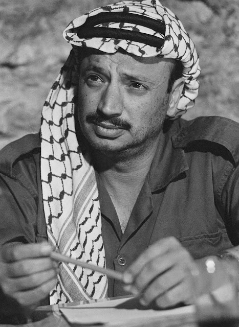 01 Apr 1969, Jordania --- Portrait of the Palestinian leader during his exile in Jordania. --- Image by © Genevieve Chauvel/Sygma/Corbis