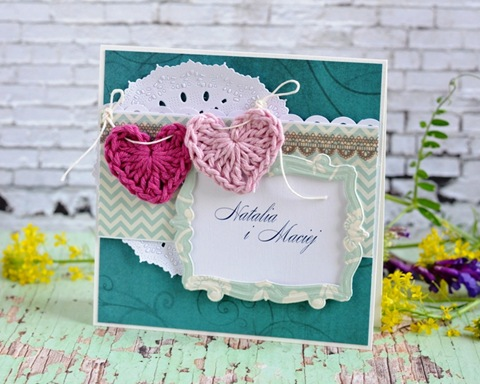 zaproszenia ślubne na szydełku