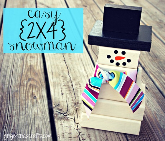 2x4 snowman from Ginger Snap Crafts