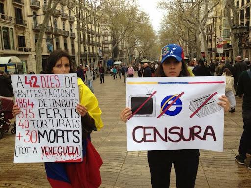 Venezolanos de Barcelona vuelven a protestar contra Maduro