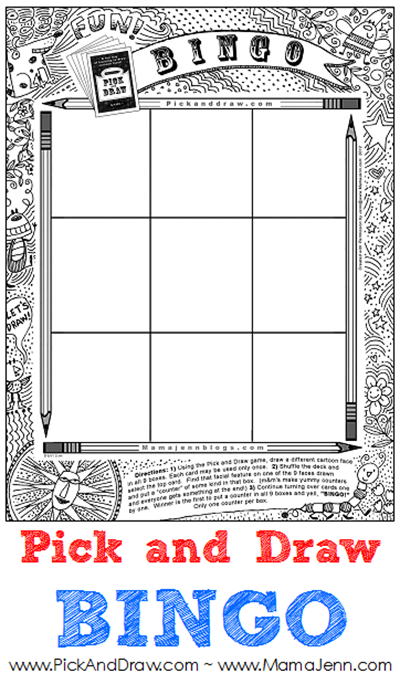 Pick and Draw BINGO {Free printable game board}