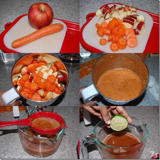 Carrot apple juice process
