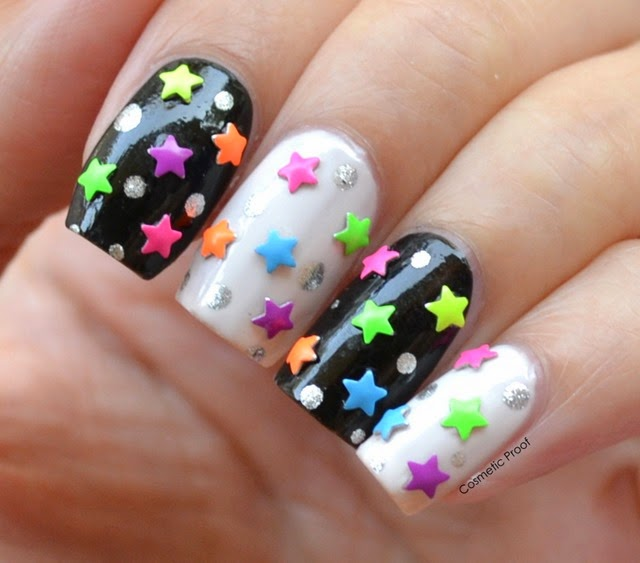 Neon Star Nail Studs (2)