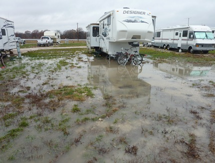 Campsite in Coffeyville, Kansas