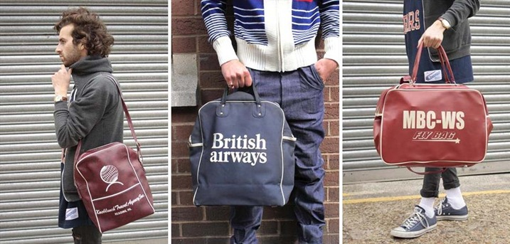 Left to Right; Vintage 70's Flight Bag, £32, British Airways Collectable Bag £18, MBC Flight Bag, £32.