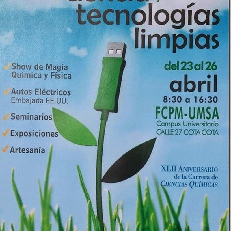 23 - 26 abril: Feria de ciencia y tecnologías limpias (2014)