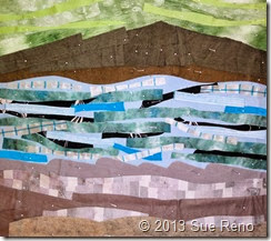 Sue Reno, In Dreams I Climbed The Cliffs, Work In Progress 1