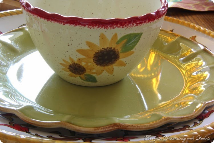 Sunflower Tablescape-Bargain Decorating with Laurie