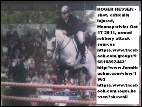 Hessen Roger Shot critically injured Hennopsrivier Oct 17 2011